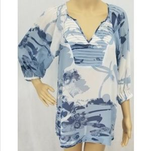 Banana Republic Women's Blouse XS Silk Top Blue